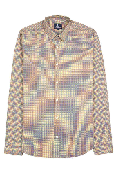 Camisa Hombre BEN SHERMAN SCATTERED PRINT L/S MEN SHIRT Dijon
