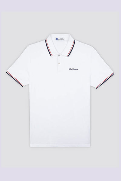 Polo Hombre BEN SHERMAN SIGNATURE POLO White