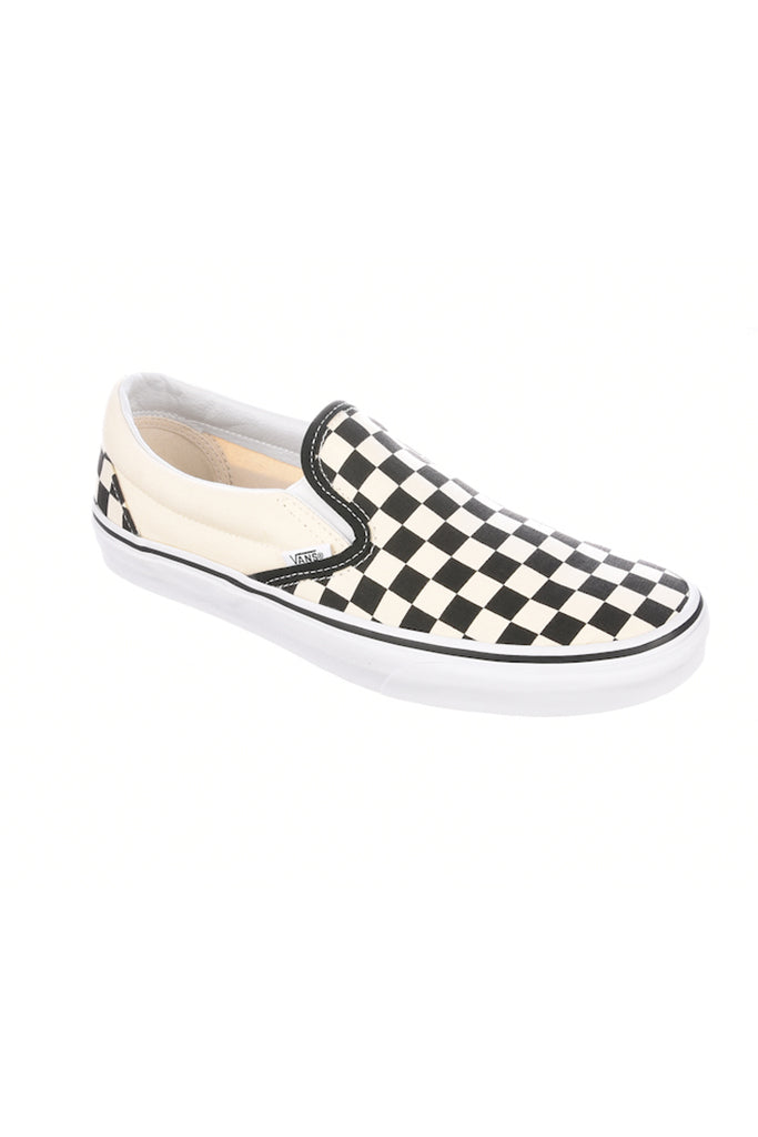 VANS CLASSIC SLIP-ON Black & White Checkerboard / White