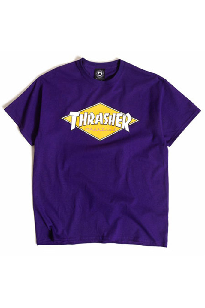 Camiseta Hombre THRASHER DIAMOND LOGO TEE Purple