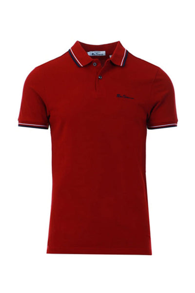 BEN SHERMAN SIGNATURE POLO Red