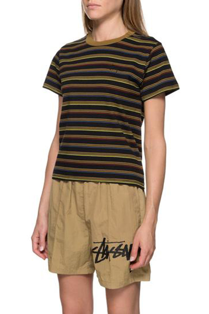 STUSSY LEAGUE CRINKLE WOMEN SHORT Khaki