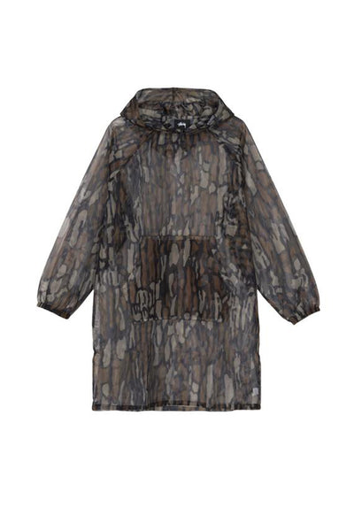 STUSSY TREE BARK CAMO MESH UNISEX PULLOVER Brown