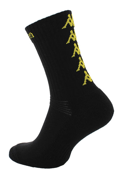 KAPPA ELENO MEN SOCKS Black / Yellow Logo