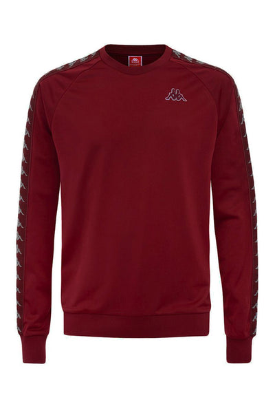 KAPPA 222 BANDA GHIAMIS MEN SWEAT Red Bourdeaux / Grey
