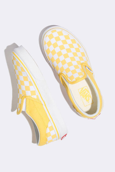 VANS SLIP ON KIDS Checkerboard Aspen Gold ( Tallaje;27-35)