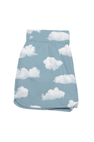 Shorts Mujer DEDICATED SANDVIKA WOMEN SHORTS CLOUDS Blue