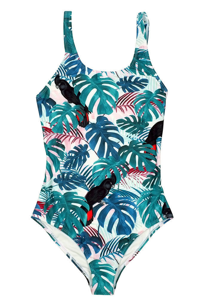 DEDICATED SWIMSUIT RANA COLOR LEAVES