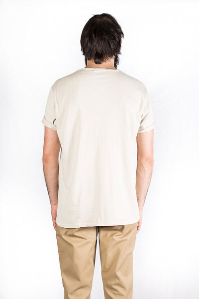 Camiseta Hombre NUDIE JEANS OVE PATCHED TEE Sand