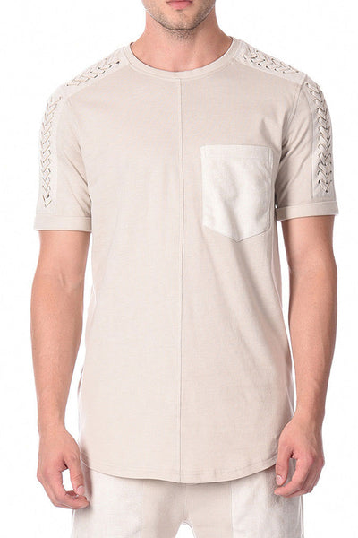 BLACK KAVIAR SYPRESS MEN TEE Beige