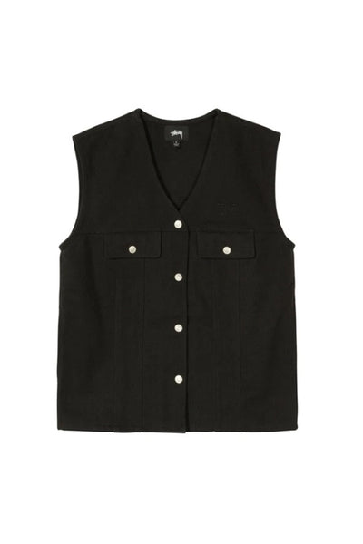 Chaleco Mujer STUSSY CANVAS WORK WOMEN VEST Black