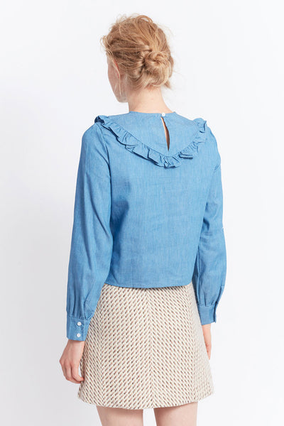MIGLE+ME DIJON DENIM SHIRT