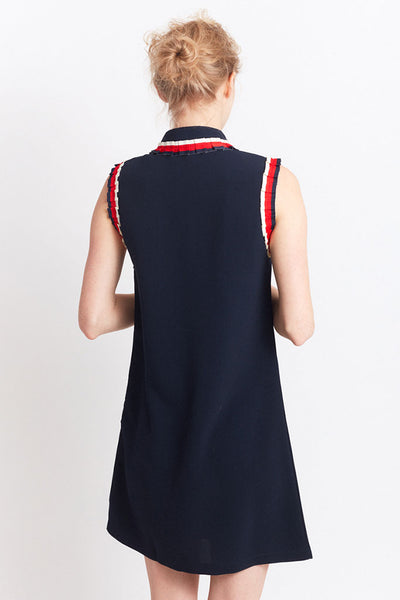 MIGLE+ME ZARAGOZA ELEGANT DRESS Navy