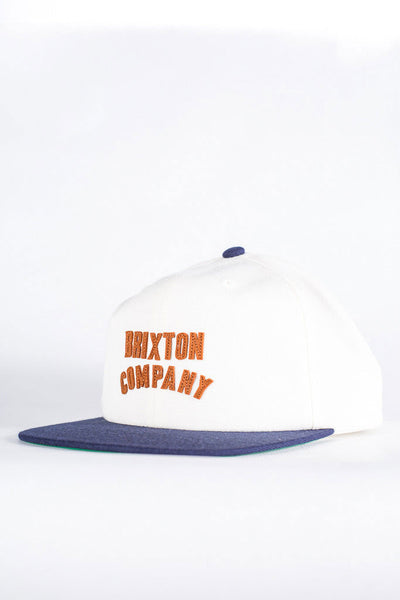 BRIXTON WOODBURN SNAPBACK Off white/Navy