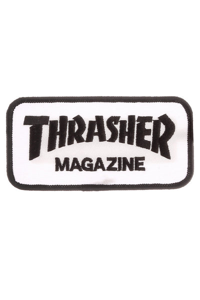 THRASHER SKATE MAG PATCH White