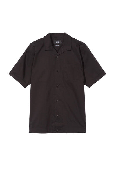 STUSSY HELLSHIRE MEN BOWLING SHIRT Black
