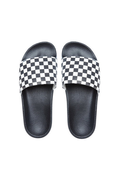 VANS SLIDE ON (Checkerboard) Black / White