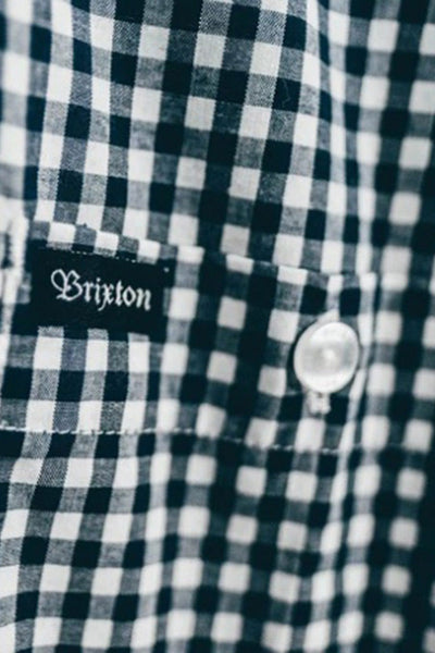 Camisa Hombre BRIXTON HOWL L/S MEN WOVEN SHIRT Navy / Off White