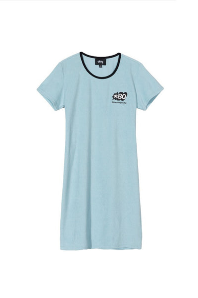STUSSY BARRA MINI DRESS Light Blue