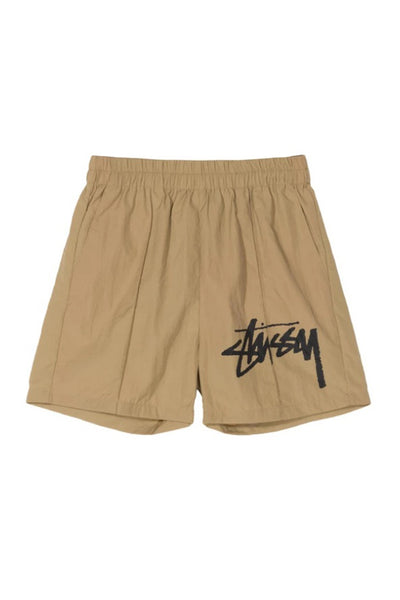 Shorts Mujer STUSSY LEAGUE CRINKLE WOMEN SHORT Khaki