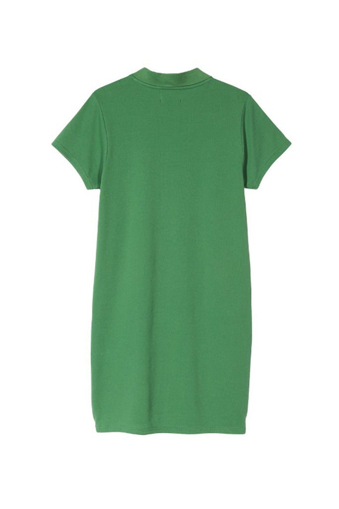 STUSSY MURIEL POLO MINI DRESS Green