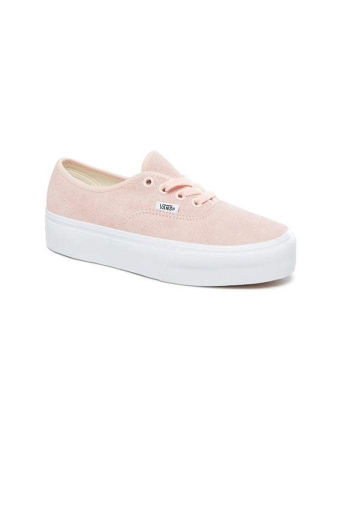 VANS AUTHENTIC PLATFORM 2.0 (Pig Suede) Pale Dogwood / True White