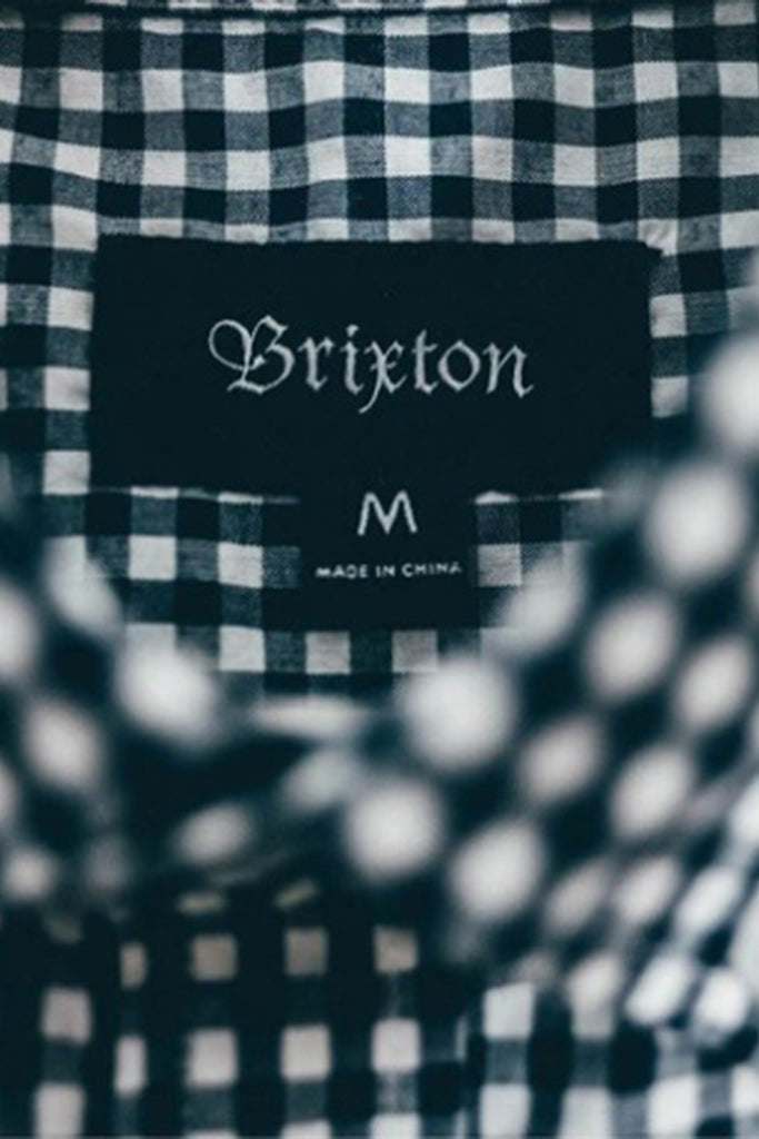 BRIXTON HOWL L/S MEN WOVEN SHIRT Navy / Off White