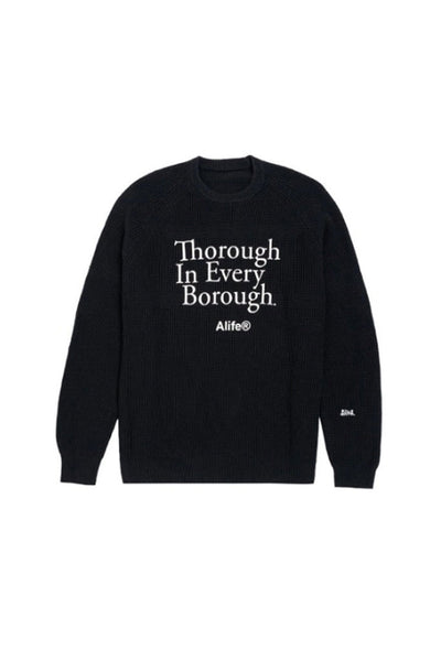 Sweater Hombre ALIFE THROUG IN EVERY BOROUGH INTASIA SWEATER Black