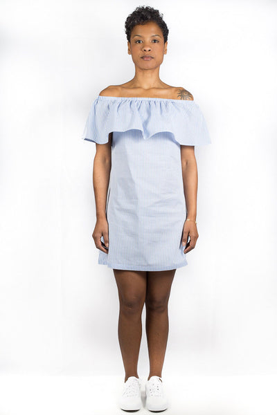 NANA JUDY MERCURY DRESS Blue white