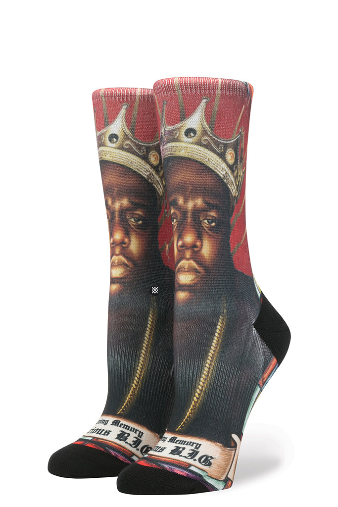 Calcetines Mujer STANCE PRAISE B.I.G. Red (NOTORIUS BIG Collection)