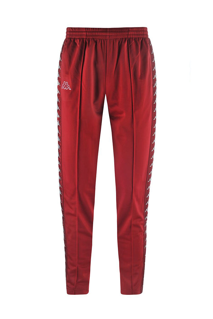 KAPPA BANDA ASTORIA SLIM MEN PANT Red bourdeaux / Grey