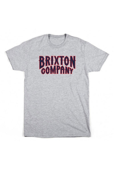 BRIXTON BAILEY S/S STND MEN TEE Heather Grey
