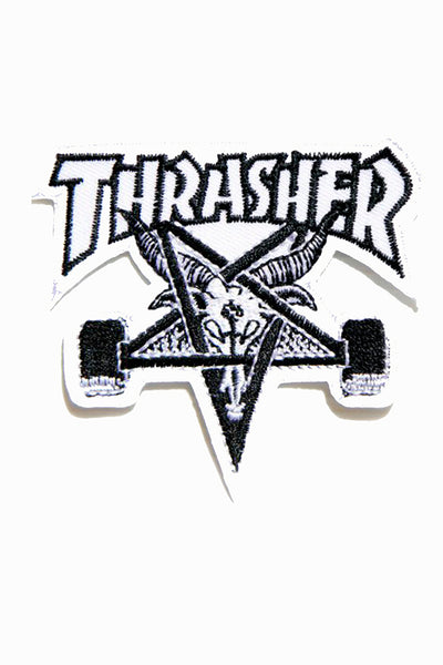 THRASHER SKATE GOAT PATCH White
