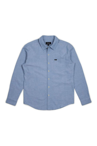 BRIXTON CHARTER OXFORD L/S MEN WOVEN SHIRT Light Blue Chambray