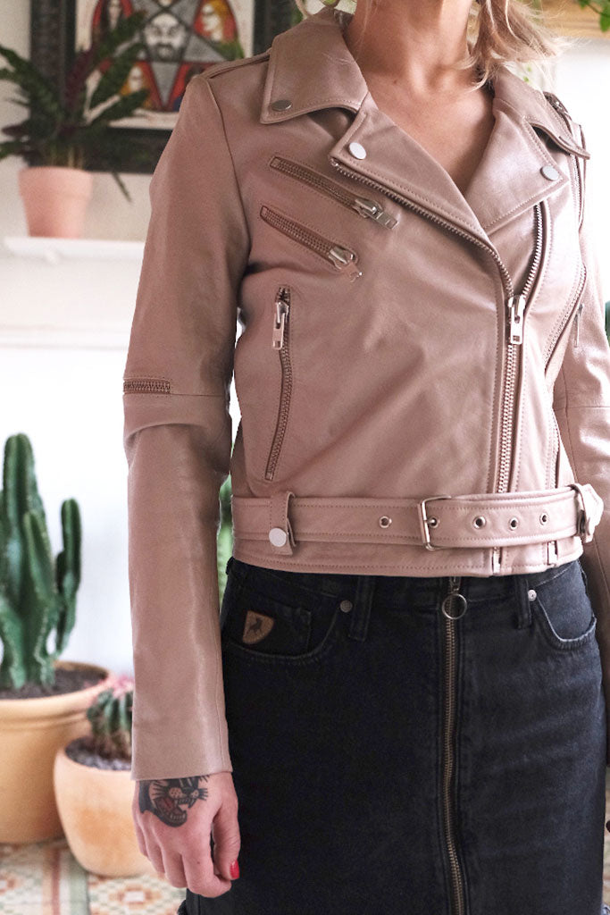 NEUW STHLM WOMEN LEATHER JACKET Soft Pink
