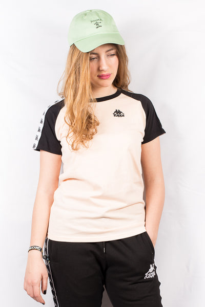 KAPPA APAN AUTHENTIC WOMEN TEE Pink Peach / Black