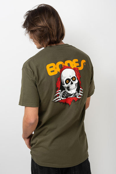 Camiseta Hombre POWELL PERALTA RIPPER TEE Military Green