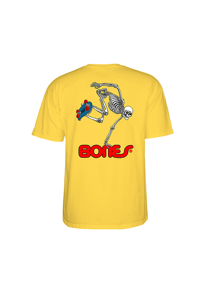 POWELL PERALTA SKATEBOARDING SKELETON TEE Banana