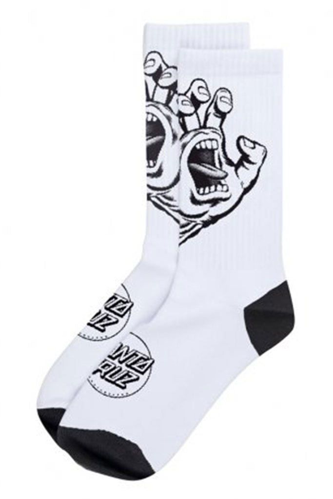 Calcetines SANTA CRUZ SCREAMING HAND MONO SOCKS White