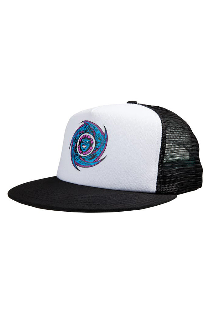 Gorra SANTA CRUZ SPEED WHEELS FACES MESHBACK CAP White / Black