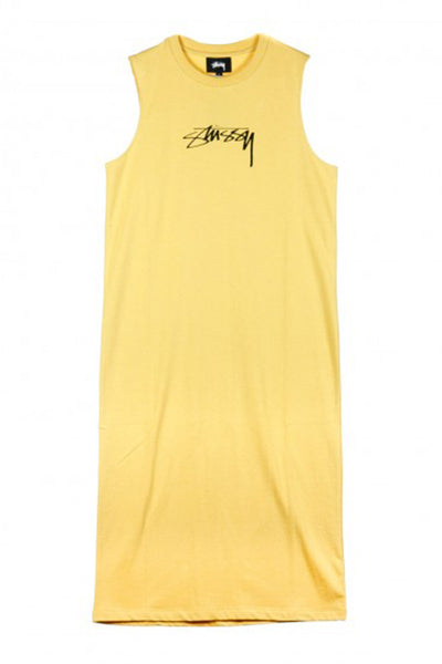 STUSSY EZRA MUSCLE DRESS Yellow