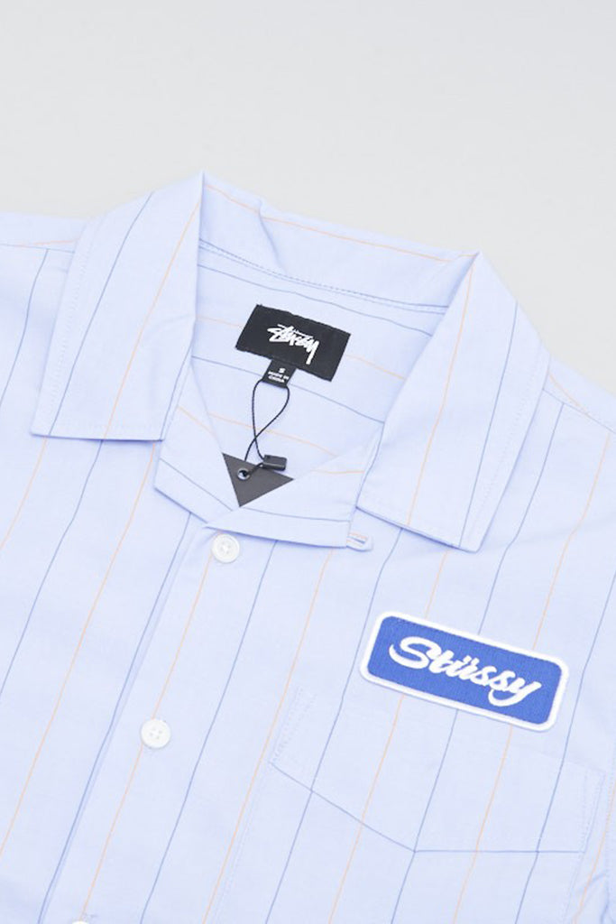 STUSSY MEN WORK L/S SHIRT Blue