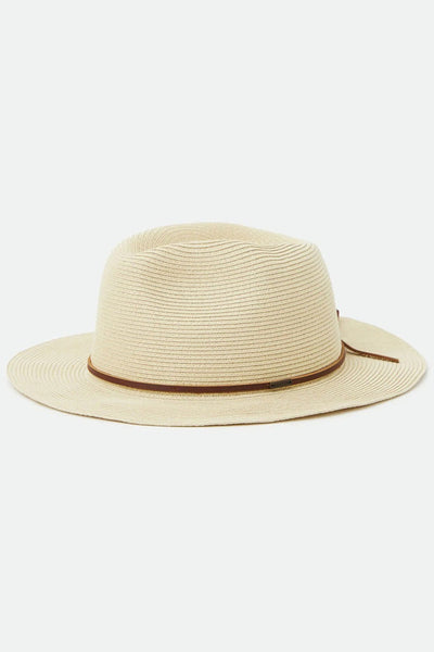 Sombrero Mujer BRIXTON WESLEY STRAW WOMEN PACKABLE FEDORA Tan