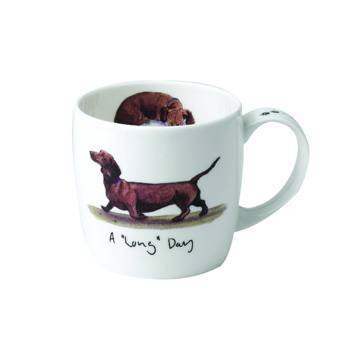 Katherine Tyrer 'A Long Day' fine bone china mug