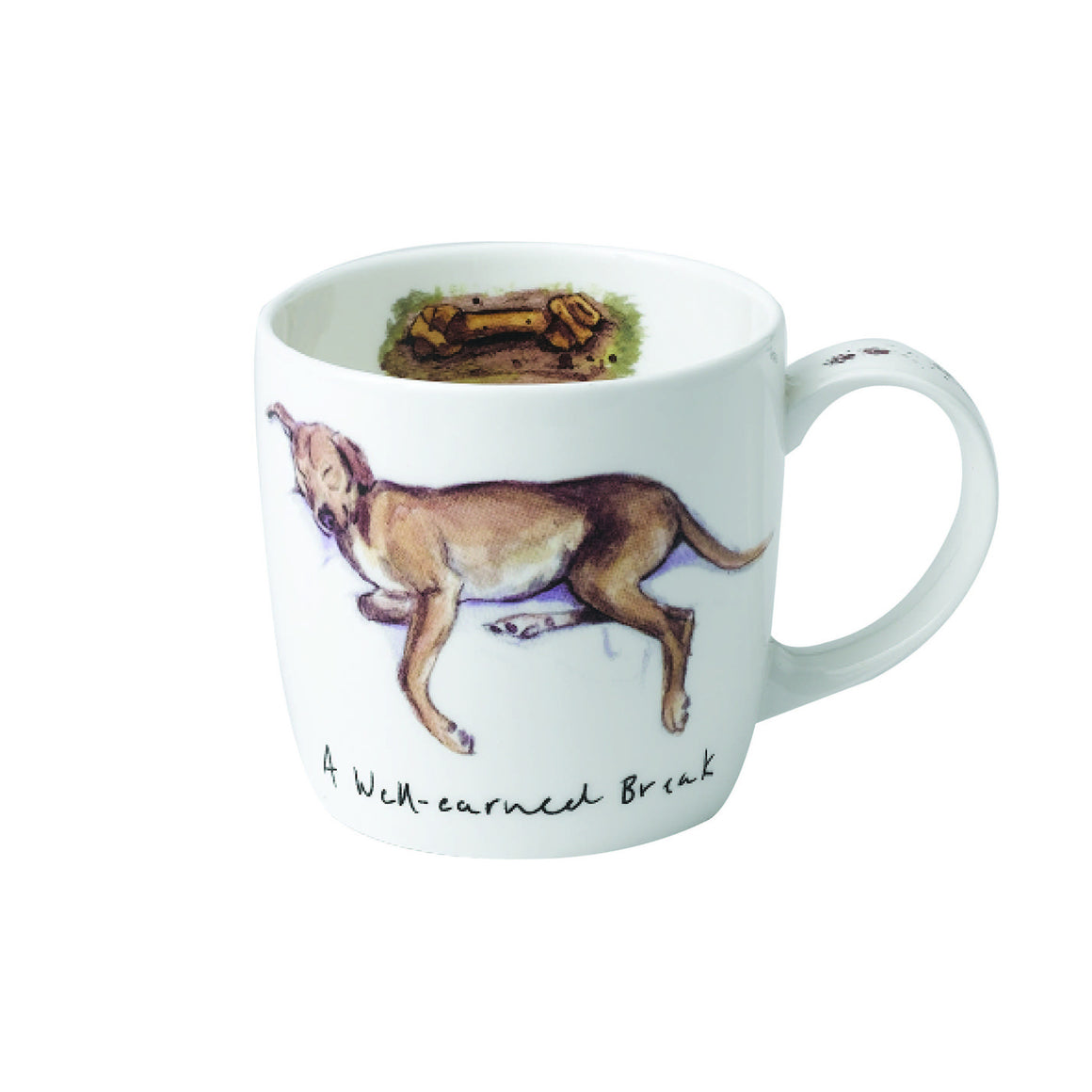 Katherine Tyrer 'A Well Earned Break' fine bone china york mug