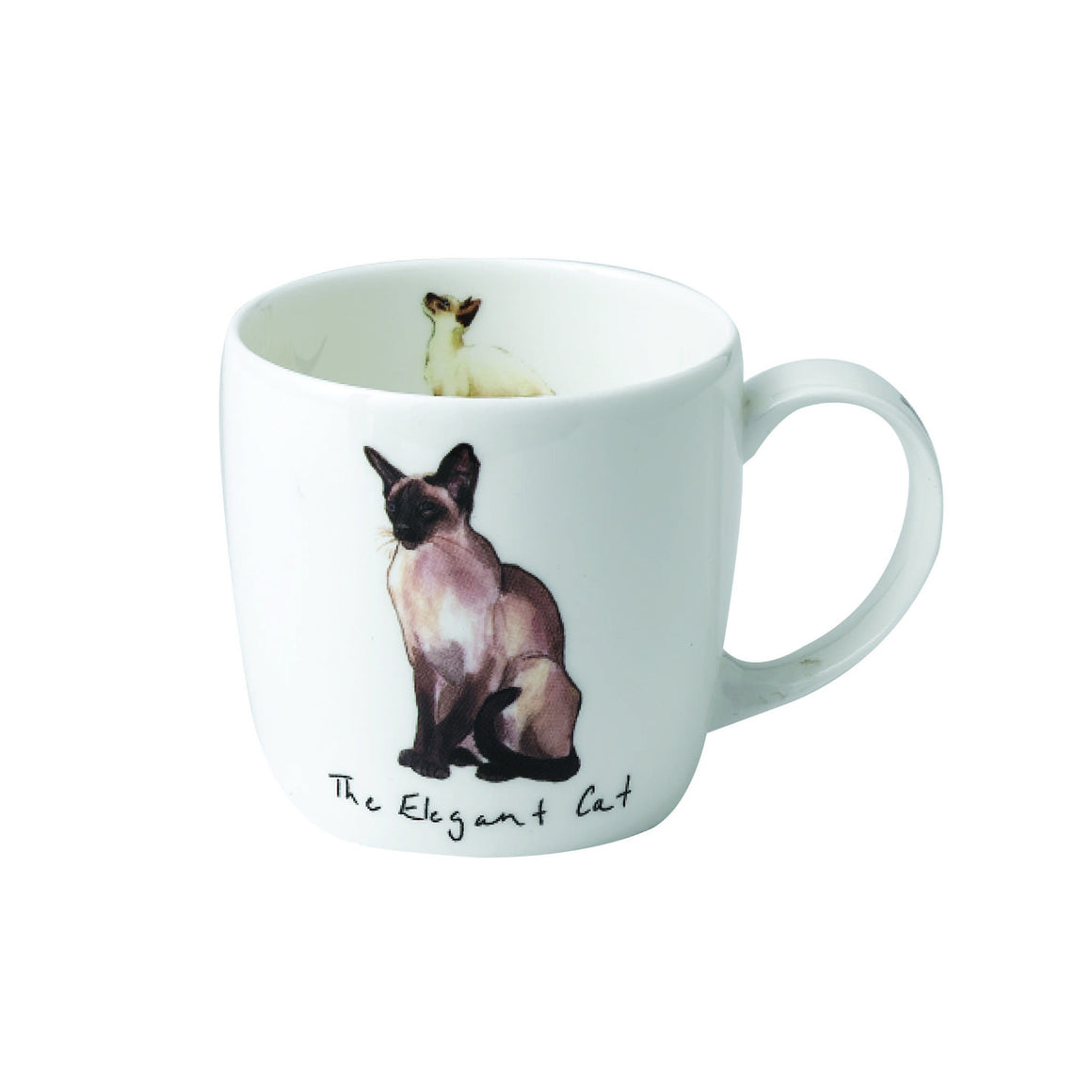 Katherine Tyrer 'Elegant Cat' fine bone china york mug