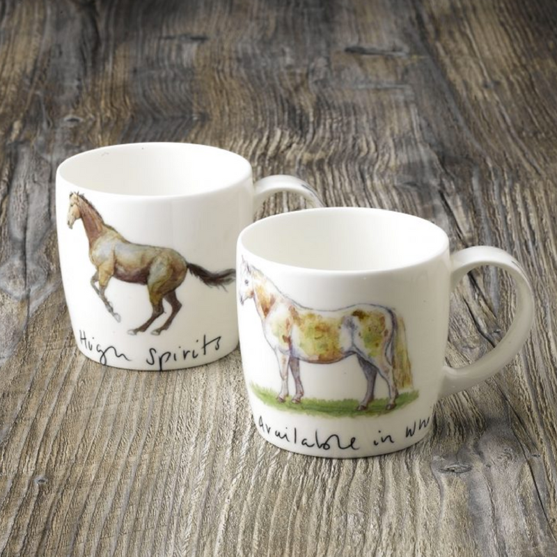 Katherine Tyrer 'Available in White' fine bone china york mug