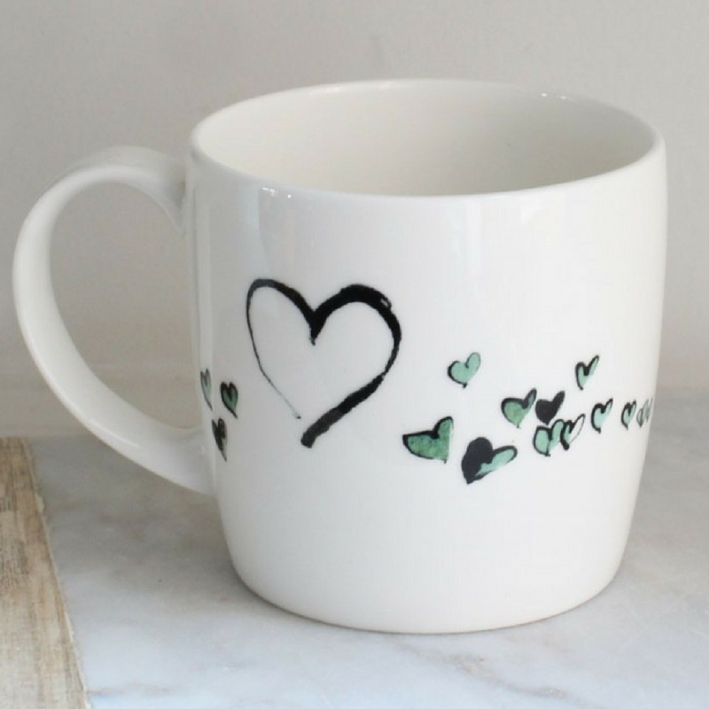 Anna Wright I love you york shaped fine bone china mug