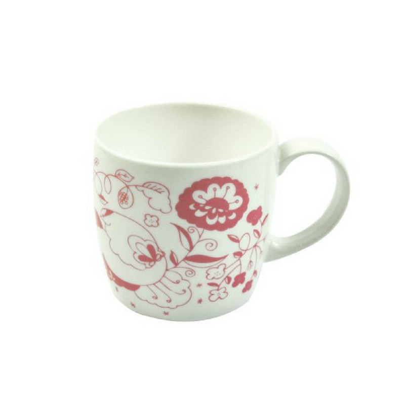 Joanne Webb's rose design york shaped fine bone china mug