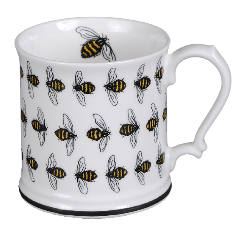 Honeybee 'Small Bees' fine bone china tankard mug